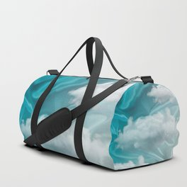 """Blue pastel sweet heaven and clouds"" Duffle Bag"
