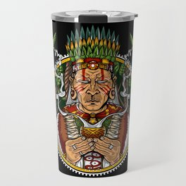 Ayahuasca DMT Shaman Trippy Travel Mug