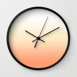 Peach Gradient Wall Clock