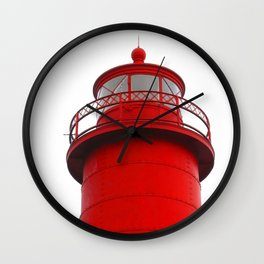 Really Red Lighthouse Wall Clock