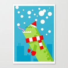 mmm... snow! Canvas Print