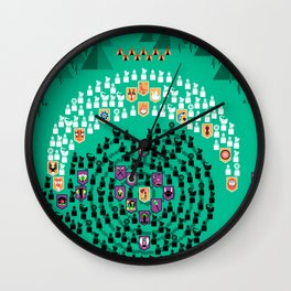 Mahabharata - 13th Day of Battle Wall Clock