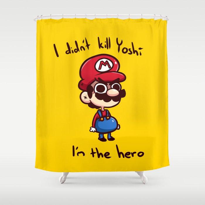 Mario Shower Curtain By Helipeach