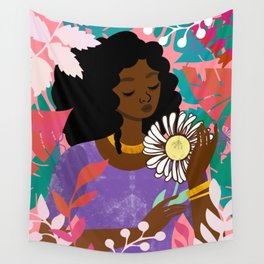 Daisy in April Wall Tapestry