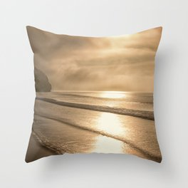 And so it Begins sunrise at Avila Beach California Throw Pillow
