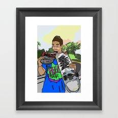bebo Framed Art Print