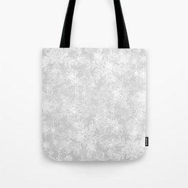 Silver Snowflakes Tote Bag