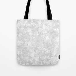 Silver Snowflakes Tote Bag