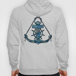 Anchor and Steering Helm [Multicolored 2] Hoody