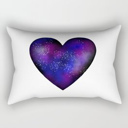 Space stars heart Rectangular Pillow