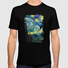 Tardis Art Starry Painting Night T-shirt