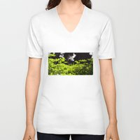 clover V-neck T-shirts featuring Clover by Thomas Ray Publishing
