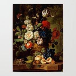 """Jan van Os """"Flowers"""" Poster"""