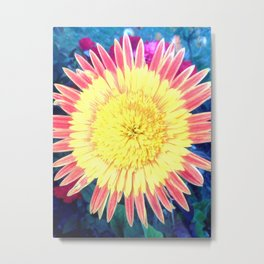 Colourful Daisy photography by Michelle Steers Metal Print