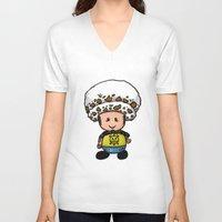 law V-neck T-shirts featuring Toads Law by Dama Chan