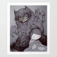 nightmare Art Prints featuring Nightmare by hatrobot