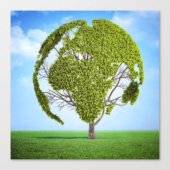 Globe Tree Canvas Print