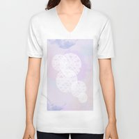 water color V-neck T-shirts featuring Water Color by AngelicaRoesler