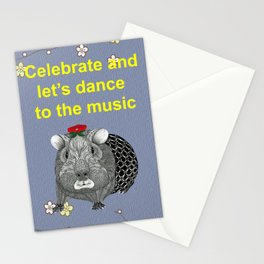Ms Guinea Pig is dressed up and ready to go party Stationery Cards