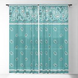Teal Bandana Sheer Curtain