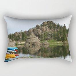 Canos At Sylvian Lake South Dakota Rectangular Pillow