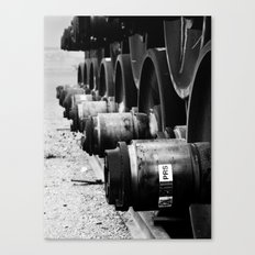 Rail Wheel Canvas Print