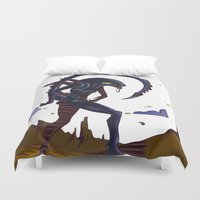 xenomorph Duvet Covers featuring ALIEN by flydesign