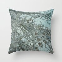 frozen Throw Pillows featuring Frozen by DesignsByMarly