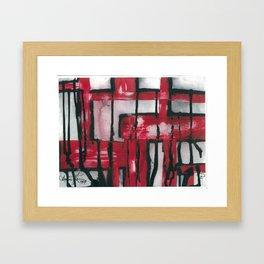 Bleeding Red Framed Art Print