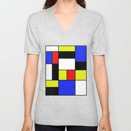 Mondrian #20 Unisex V-Neck