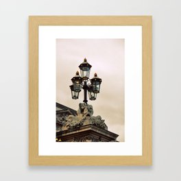 leave the light on Framed Art Print