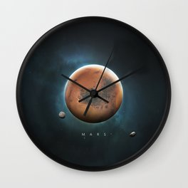 A Portrait of the Solar System: Mars Wall Clock