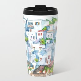 Panorama of Lindos Travel Mug