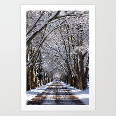 Winter Tunnel Art Print