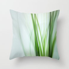 Grass / Green Whispers Throw Pillow