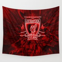 liverpool Wall Tapestries featuring LIVERPOOL LOVER by Acus