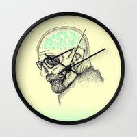 heisenberg Wall Clocks featuring Heisenberg by Mike Koubou