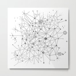 Interconnections Metal Print