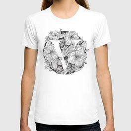 Flower V T-shirt