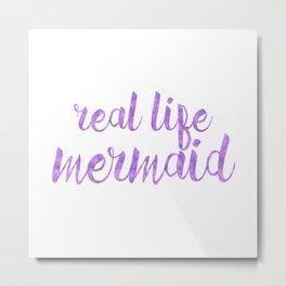 Real Life Mermaid in Purple Metal Print