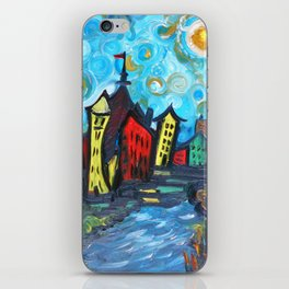 Primary color Cityscape iPhone Skin