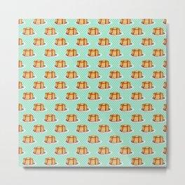 Pancakes & Dots Pattern Metal Print