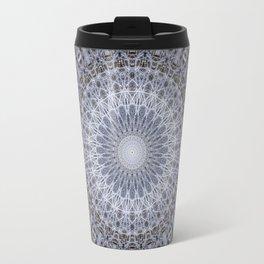 Detailed mandala in grey tones Travel Mug