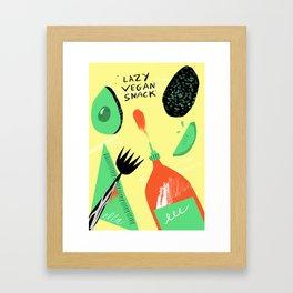 Lazy Vegan Snack Framed Art Print