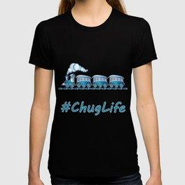#ChugLife Blue Train T-shirt