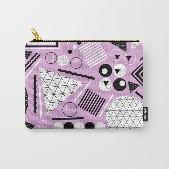 Busy Busy Busy Black And White! Carry-All Pouch