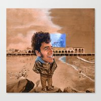 springsteen Canvas Prints featuring Springsteen, King of the Beach by kenmeyerjr
