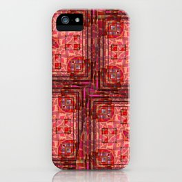 no. 197 orange pink pattern iPhone Case