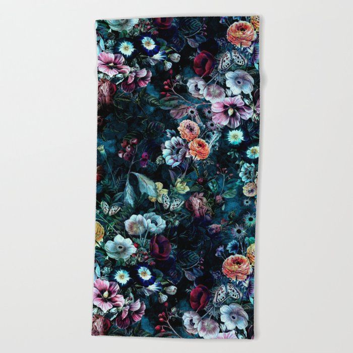 Night Garden Beach Towel