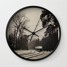 forest tram Wall Clock